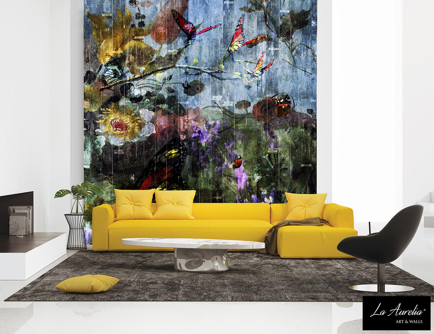 Butterfly Garden, a wallpaper from the Dutch Dreams wallpaper collection by La Aurelia